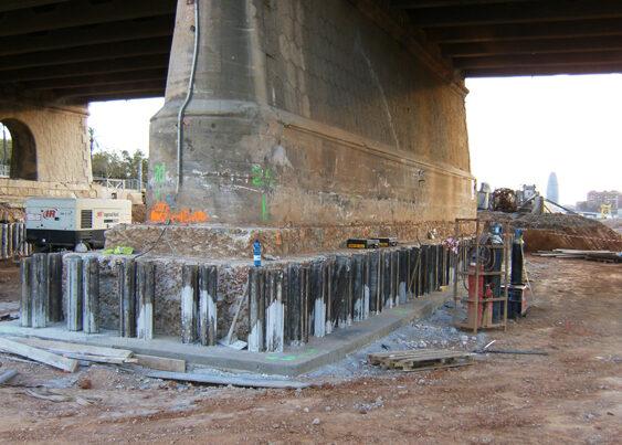 L.A.V. La Sagrera. Realce del Puente de Trabajo